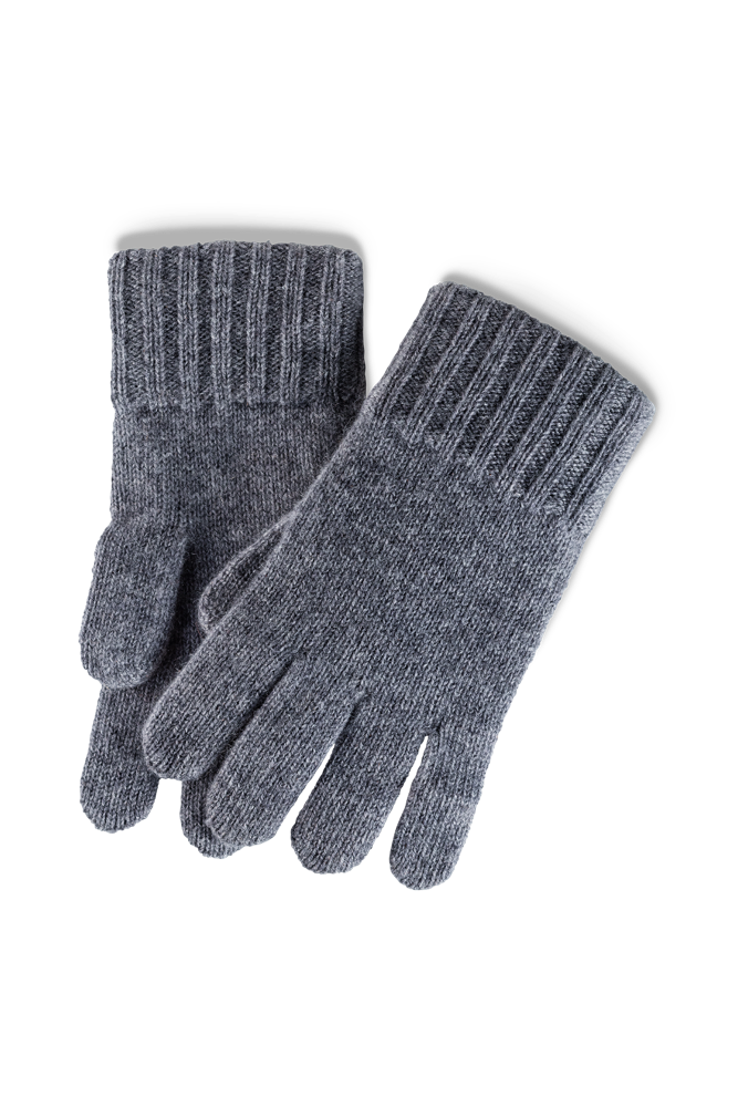Cashmere Lining Gloves: Grey