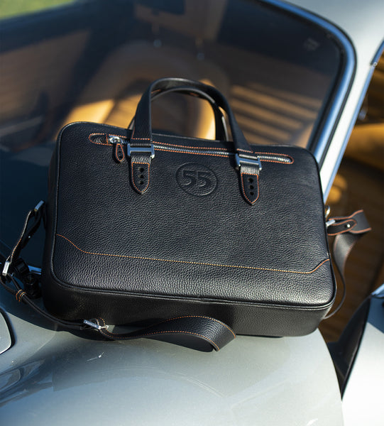 City Briefcase: Black - Orange