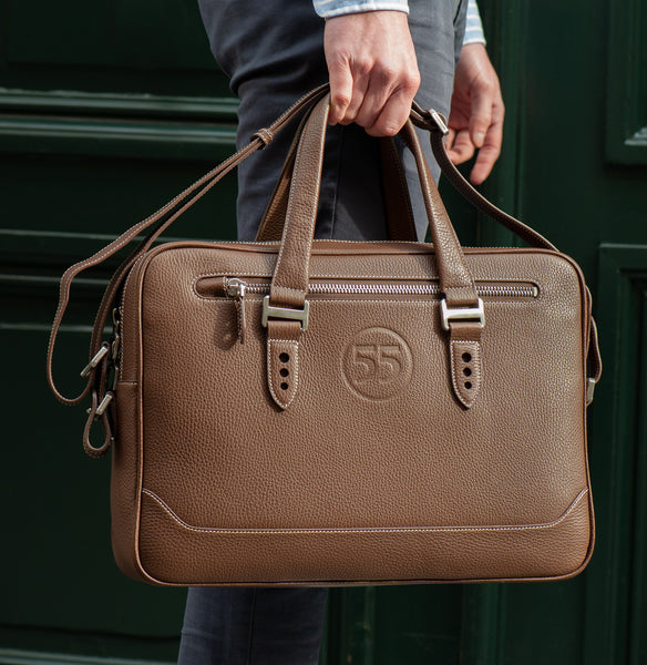 City Briefcase: Brown - Natural