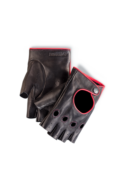 Unisex Racing Gloves: Black - Red