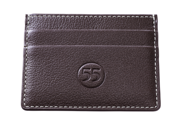 Card Holder: Brown - Natural