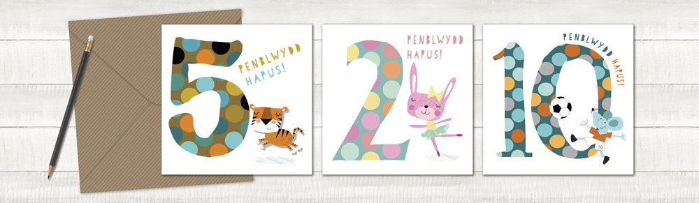 WELSH kids age cards
