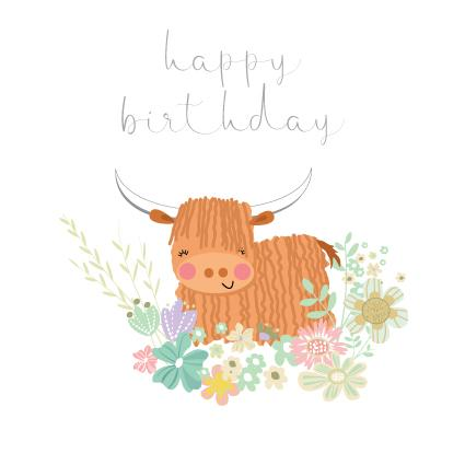 CC01 Highland Cow Birthday