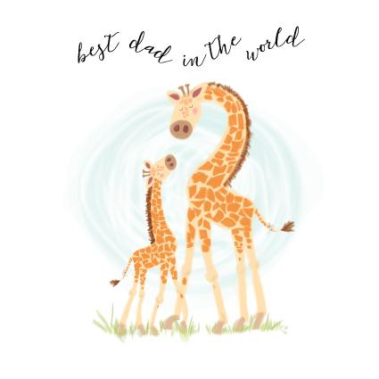 CC63 Best Dad Giraffe