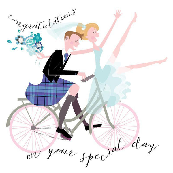 H84 Wedding Couple Bicycle