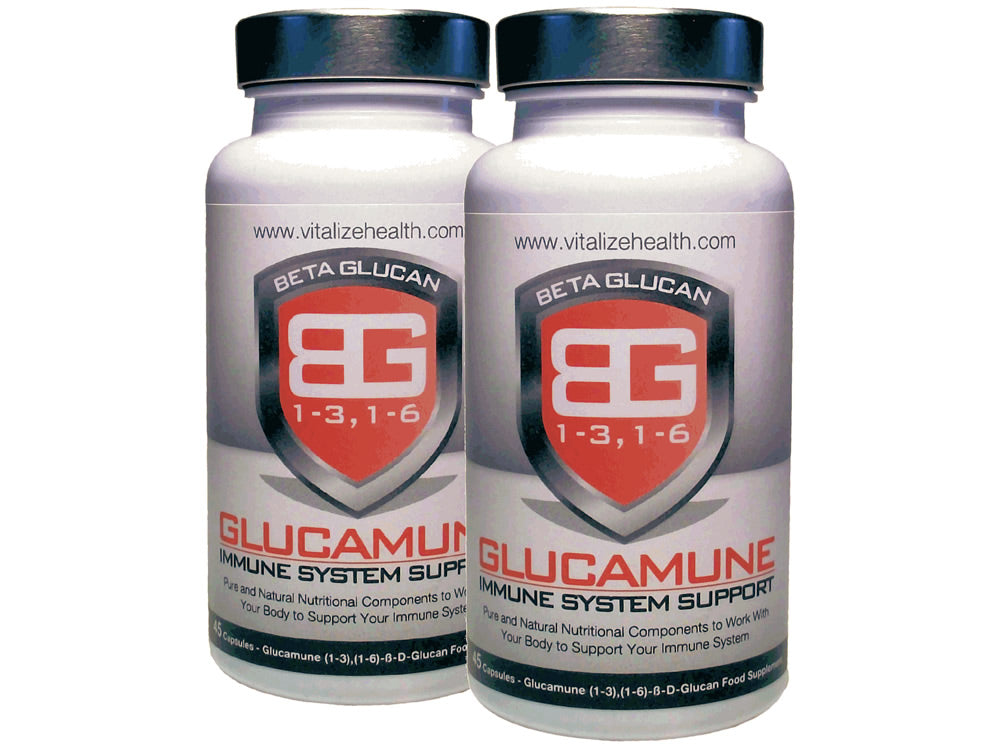 Two 45 capsule Glucamune Tubs - Vitalize Health Products Ltd