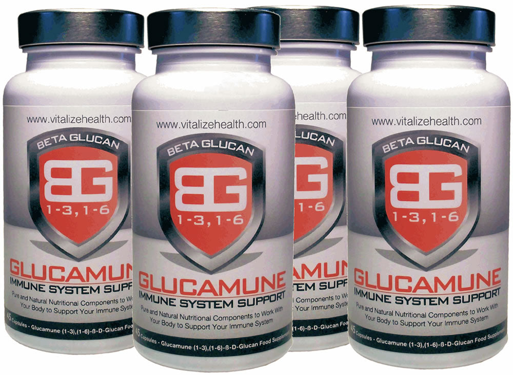 Four 45 capsule Glucamune Tubs - Vitalize Health Products Ltd