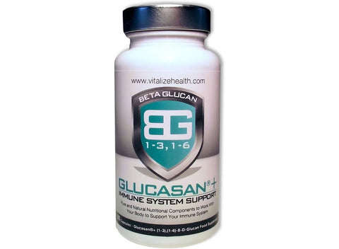 One 60 capsule Glucasan Tub - Vitalize Health Products Ltd