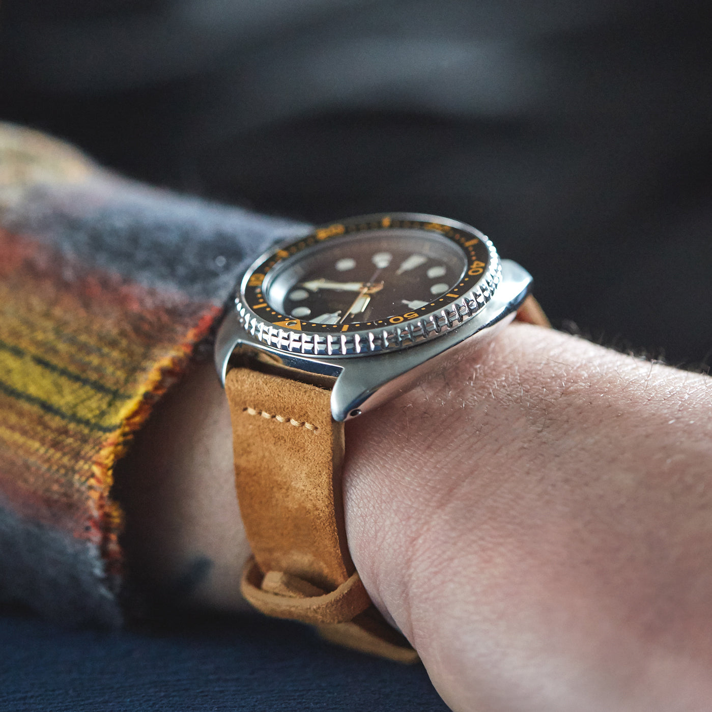 cognac-suede-watch-strap