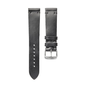 Black Horween Leather Watch Strap