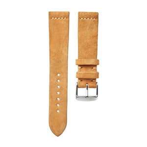 Cognac Suede Watch Strap