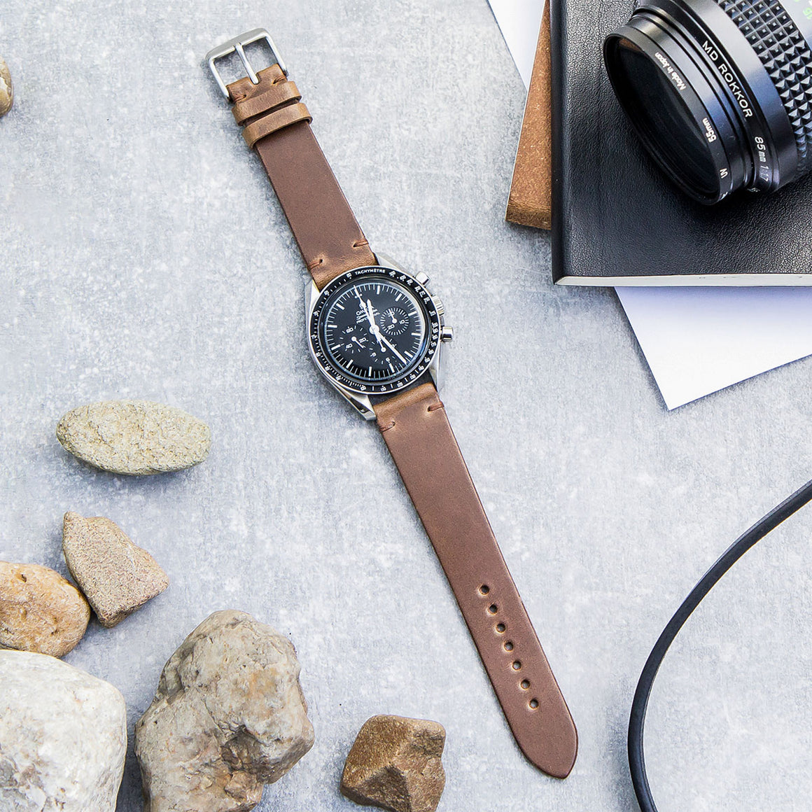 Natural Horween Leather Watch Strap
