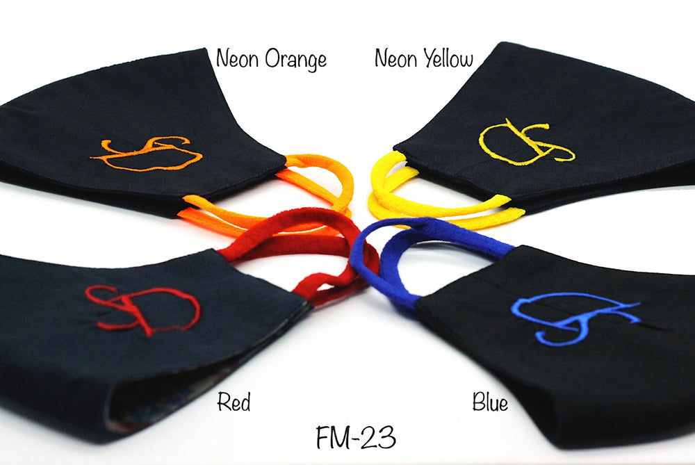 Navy Blue Neon Yellow Initials (FM-23)