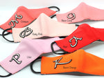 KIDS (3+) - Neon Coral With Silver Monogram (HBC-7)