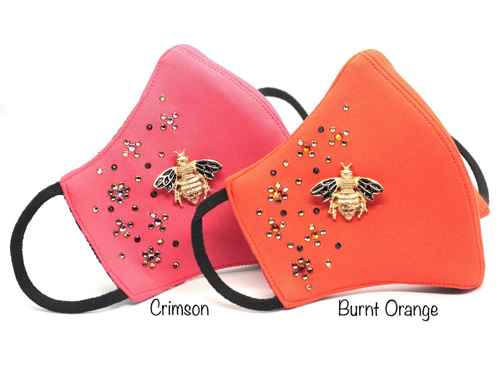 Burnt Orange Crystallised Bumble Bee **LIMITED EDITION** (HBF-26)