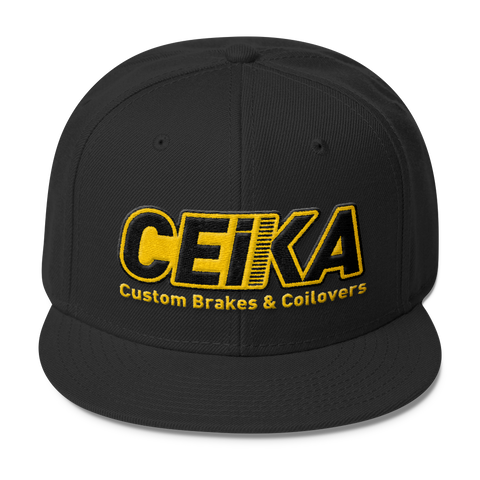 CEIKA Wool Blend Snapback Gold Logo - ceikaperformance
