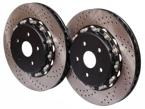 Mitsubishi Evolution Ⅹ CZ4A (07~13) CEIKA 2-Piece 330x22mm Rear Disc/Rotor OEM Replacement - ceikaperformance