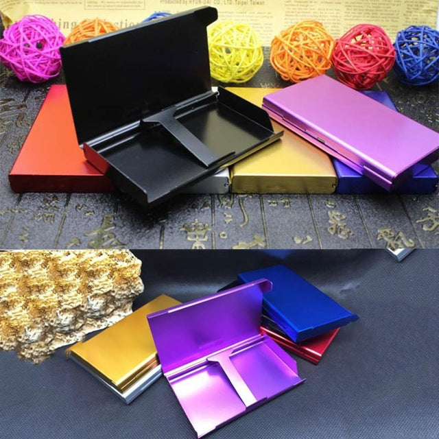 20 Pieces Capacity Metal Cigarette Case Container Pocket-box Pipe Cigar Tobacco Holder Case Slim For Lady