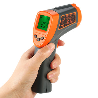 -32-600c Ir Infrared Thermometer 12:1 Non-contact Digital Temperature Tester Lcd Pyrometer +backlight C/f Adjustable Emissivity