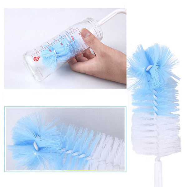 5 Pcs/set Multifunctional Sponge Cleaning Tool Straw Brush Nipple Brush For Feeding Bottle Cup Washing Cleaner