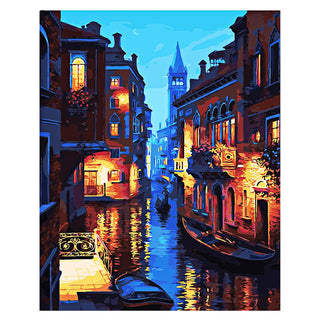 Beautiful Venice Night Oil Painting Diy Digital Canvas Oil Painting Perfect Gift For Art Wall Home Decor Creative Oil Paintings