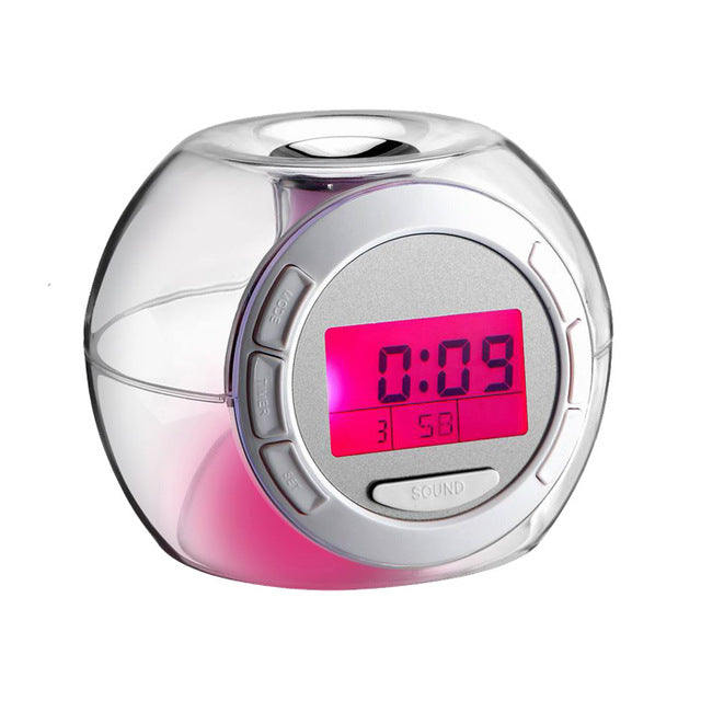 Children Wake Up Clock Digital Temperature Display Changing Color Kids Adult Sleep Night Light