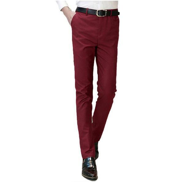 Brand Red Pants Men Plus Size S-5xl Male Suit Pants Formal Business Style Trouser Dress Men