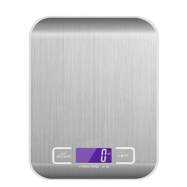 Digital Scale 5000g/1g Kitchen Cooking Measure Tools Stainless Steel Electronic Weight Led Electronic Bench Scale Weight