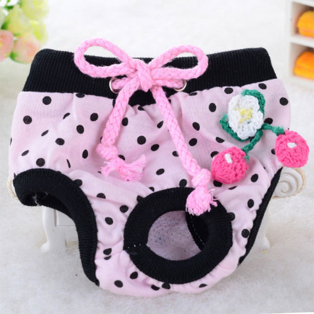 Dog Physiological Shorts Underwear Puppy Briefs Sanitary Pants Small Medium Dogs Diaper Pet Supplies
