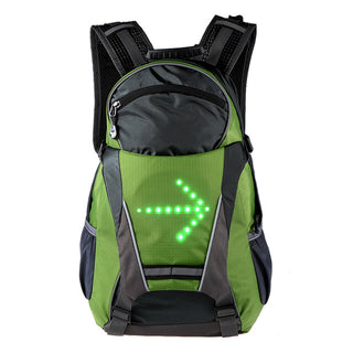 18l Bike Bag Cycling Bicycle Backpack Led Turn Signal Light Reflective Bag Pack For Outdoor Safety Night Riding