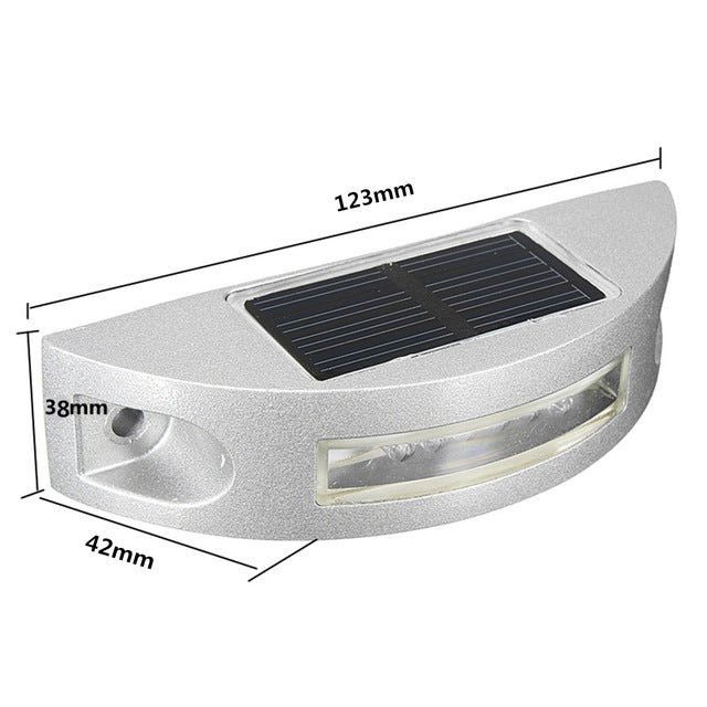 Muliti Color Outdoor Waterproof Solar Power 6 Led Light Road Driveway Dock Ground Step Lamp Path Light