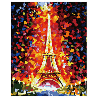 Iron Tower Oil Painting Diy Digital Canvas Oil Painting Frameless Picture For Art Wall Home Living Room Decor Perfect Gifts