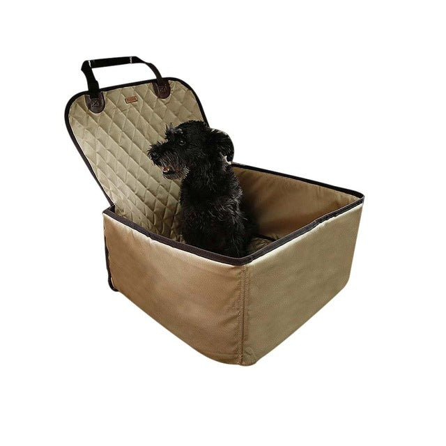 Waterproof Dog Pet Car Carrier Carry Storage Bag Booster Seat Cover 2 In 1 Carrier Bucket Basket
