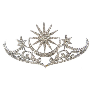 Bride Star Moon Queen Crystal Crown Tiara Wedding Bridal Party Prom Headband Hair Jewelry - PallMart