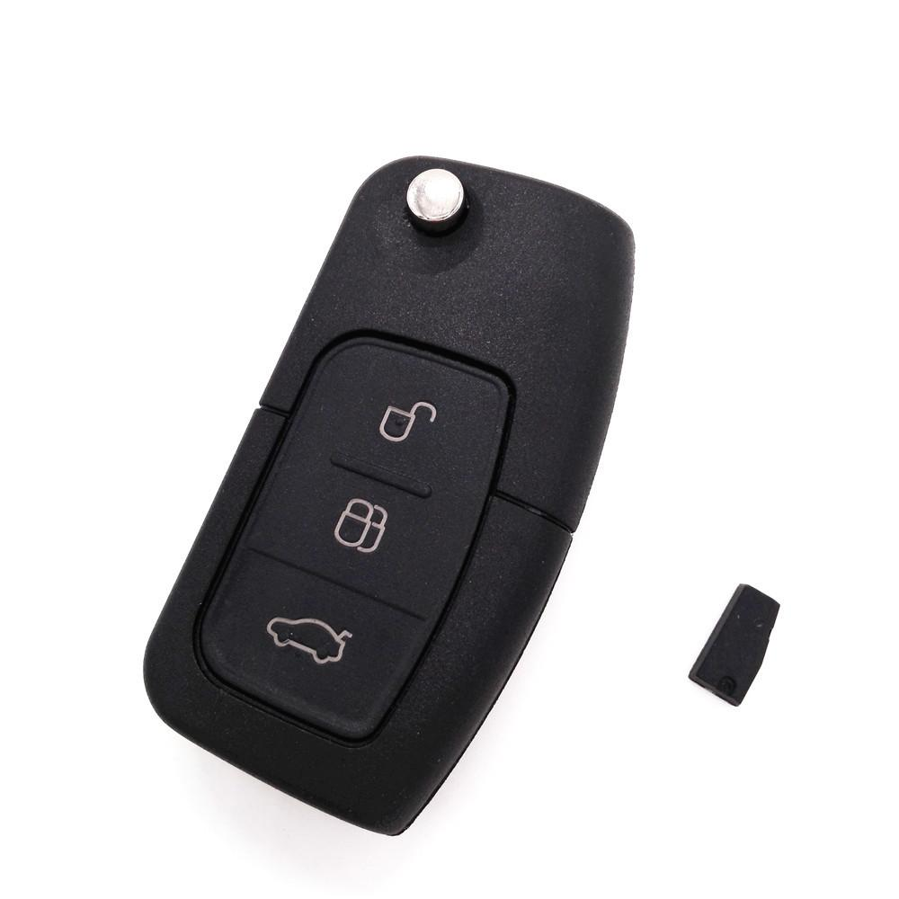 HKCYSEA Brand Folding Flip Remote Car Key 3 Button 433MHZ For FORD Focus Mondeo Fiesta With 4D-63 Chip - PallMart