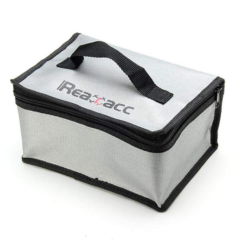 220x155x115mm Realacc Fireproof RC LiPo Battery Safety Bag Charging Bag With Handle Fire - PallMart