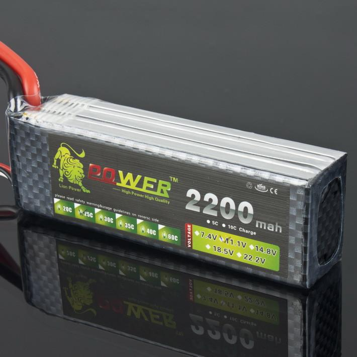 Lipo Battery 11.1V  2200 mAh 25C MAX 35C 3S T Plug For RC Car Airplane T-REX 450 Helicopter Part - PallMart