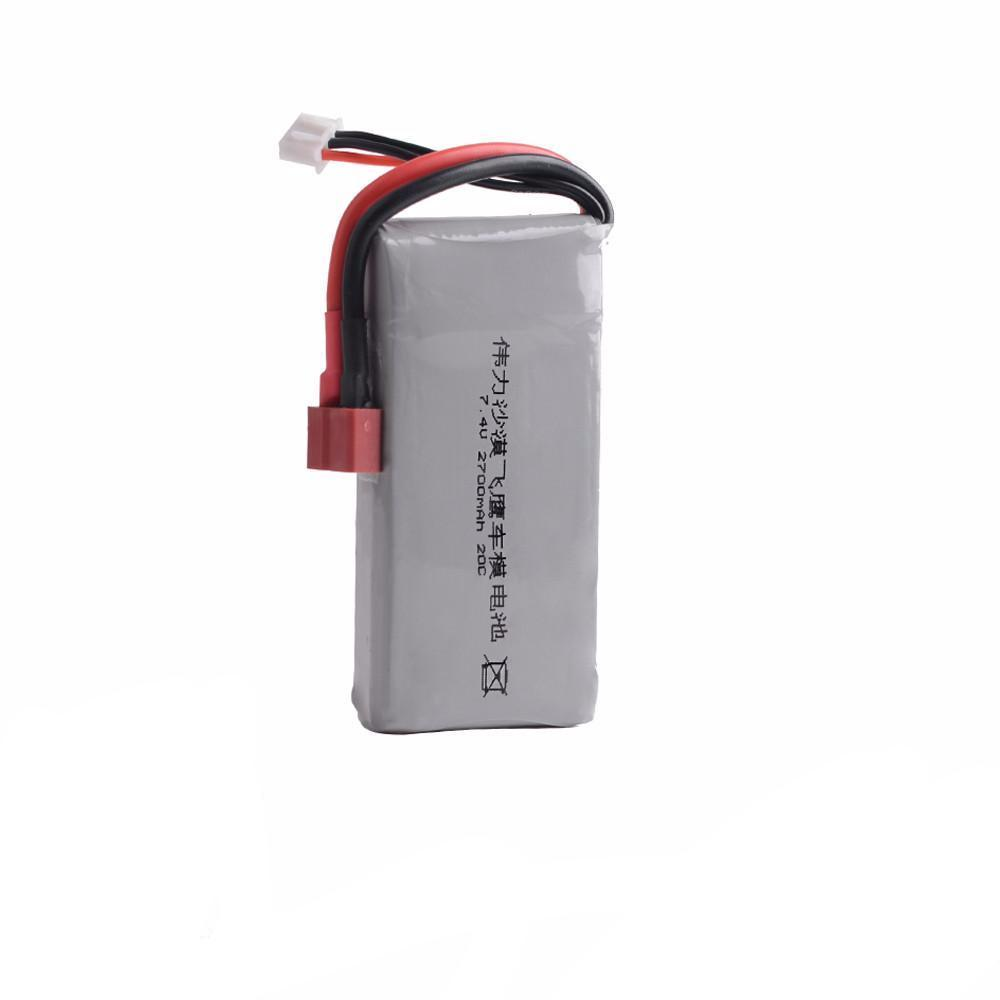 Rc Lipo Battery 2S 7.4V 2700mah 20C Max 30C For Wltoys 12428 12423 1:12 RC Car Spare Parts