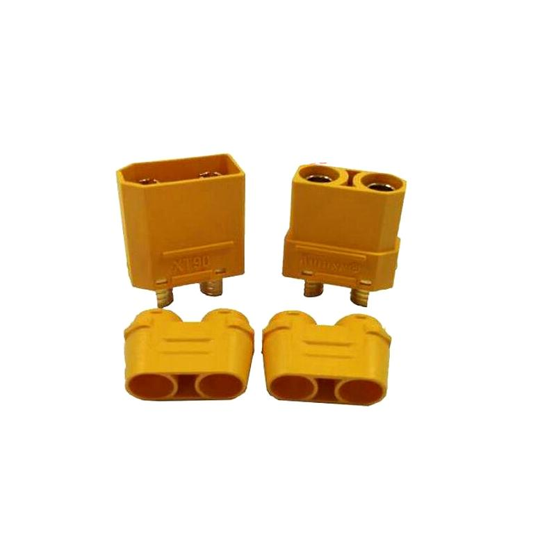 5 Pairs Amass XT-90 Male Female Anti Spark Connector Plug Antiskid 120A XT90 Terminal Plug For Airplanes Battery ESC RC Model - PallMart