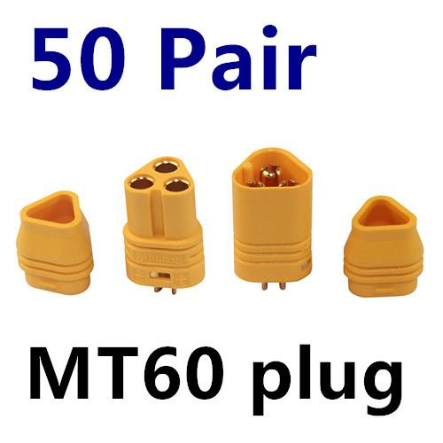 50 Pairs/lot MT60 3.5mm Motor Plug / Connector Set For RC Multicopter Quadcopter Airplane RC Lipo Battery FPV - PallMart