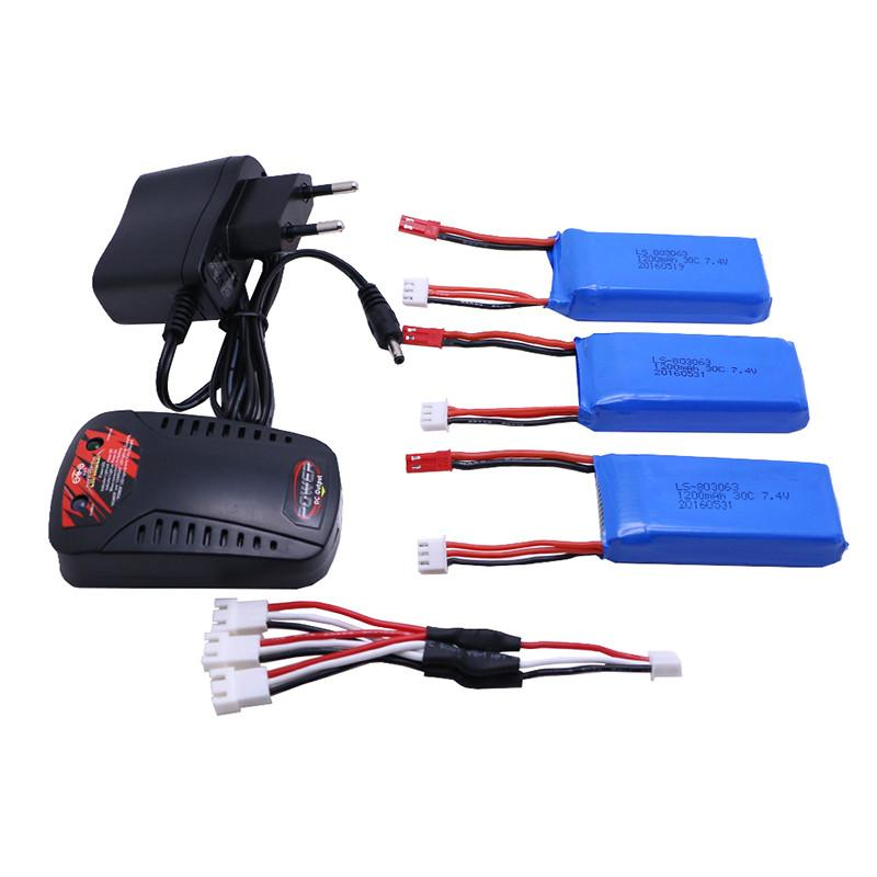 3 Pcs Battery+Charger New A949 A959 A969 A979 Wltoys K929 1/18 RC Car Battery 7.4V 1200mAh LiPo For RC Car Wltoys - PallMart