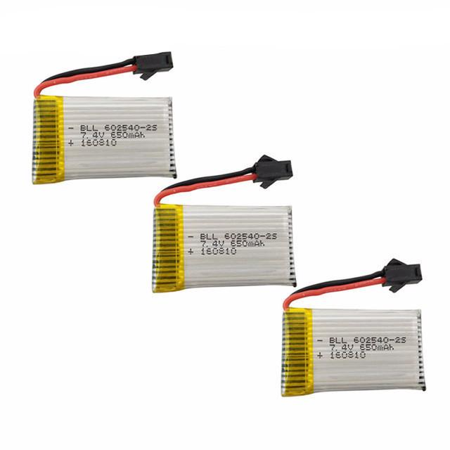3 Pcs/lot 7.4V 500mAh Lipo Battery For JJRC H8C DFD F183 F182 RC Quadcopter - PallMart