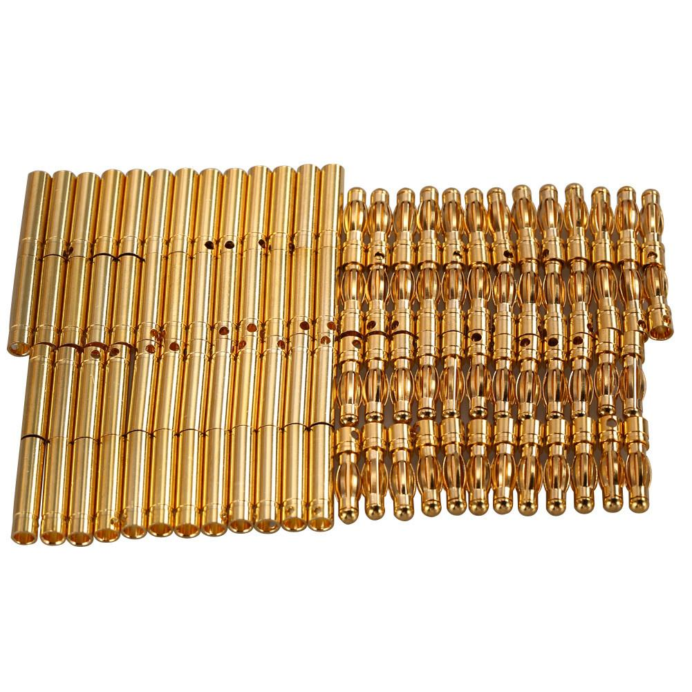 50 Sets 4.0mm 4mm RC Battery Gold-Plated Bullet Connector Banana Plug - PallMart