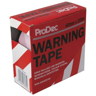 Warning Tape - Red/White (nonadhesive) 60mm x 200m