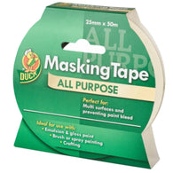 Duck Tape All Purpose Masking Tape Beige 25mm x 50m