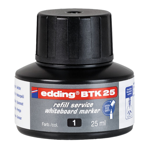 Edding BTK 25 (25ml) Refill Ink (Black) for Whiteboard Markers