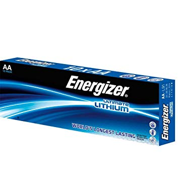 Energizer AA Lithium Batteries (Pack10)