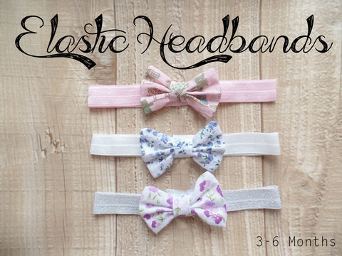 Elastic Headbands 3-6 Months