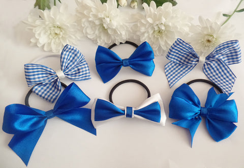 Blue School Bows