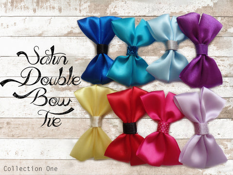 Satin Double Bow Ties (Collection One )